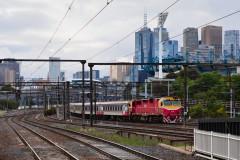 Outbound passenger train at Richmond