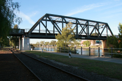 Railway bridge over Maribyrnong river