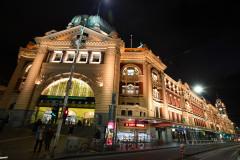 Flinders Street station by night