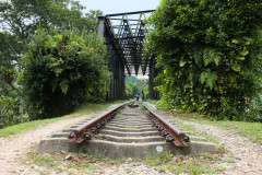 Abandoned railway bridge crossing Bukit Timah road