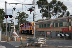 V/Line passenger train towards Melbourne in Kensington