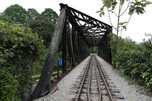 The bridge crossing Upper Bukit Timah Road