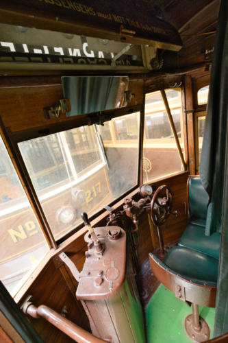 Cab of Melbourne & Metropolitan Tramways Board Y1 Class No 613